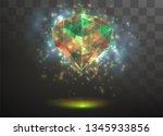 3d vector crystal on a... | Shutterstock .eps vector #1345933856
