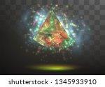 3d vector crystal on a... | Shutterstock .eps vector #1345933910