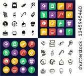 sugar or sugar food icons all... | Shutterstock .eps vector #1345945460
