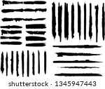 large grunge paint roller set.... | Shutterstock .eps vector #1345947443