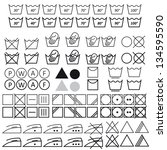 set of washing symbols vector | Shutterstock .eps vector #134595590