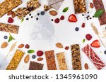 assortment of different granola ... | Shutterstock . vector #1345961090