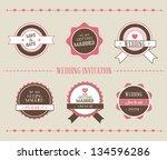 vintage vector illustration.... | Shutterstock .eps vector #134596286