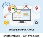 website performance... | Shutterstock .eps vector #1345965806