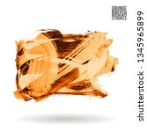 orange brush stroke and texture.... | Shutterstock .eps vector #1345965899