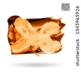 orange brush stroke and texture.... | Shutterstock .eps vector #1345965926