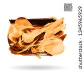 orange brush stroke and texture.... | Shutterstock .eps vector #1345965929