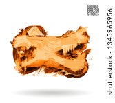 orange brush stroke and texture.... | Shutterstock .eps vector #1345965956