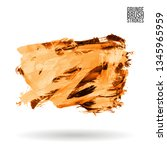 orange brush stroke and texture.... | Shutterstock .eps vector #1345965959