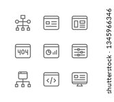 programming icon set including... | Shutterstock .eps vector #1345966346