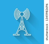 white antenna icon isolated... | Shutterstock .eps vector #1345982696