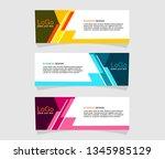 vektor abstract geometric... | Shutterstock .eps vector #1345985129
