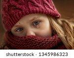 Close Up Sad Little Girl...