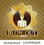 golden emblem or badge with... | Shutterstock .eps vector #1345994609