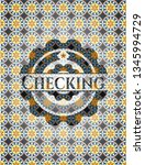 checking arabic badge... | Shutterstock .eps vector #1345994729