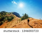 travel and hiking along the... | Shutterstock . vector #1346003723