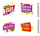set of mega sale promotion... | Shutterstock .eps vector #1346010473