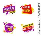 set of mega sale promotion... | Shutterstock .eps vector #1346010479