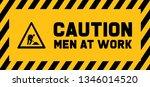 caution under construction men... | Shutterstock .eps vector #1346014520