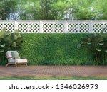 Outdoor Wood Terrace In The...