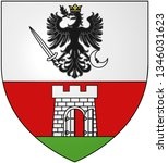 Coat of arms of the city of Nagykanizsa. Hungary