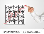 business man drawing with... | Shutterstock . vector #1346036063