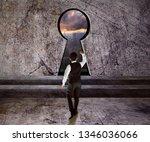 business man walking to key... | Shutterstock . vector #1346036066