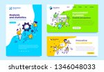 vector set of template with... | Shutterstock .eps vector #1346048033