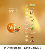 magnesium. foods with the... | Shutterstock .eps vector #1346058233