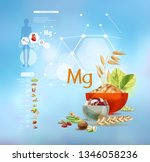 magnesium. foods with the... | Shutterstock .eps vector #1346058236