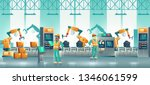 factory automated packaging... | Shutterstock .eps vector #1346061599