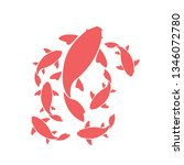 koi fishes logo.japanese symbol ...