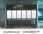 a modern arrival and departure... | Shutterstock . vector #1346080679
