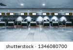 front view of a check in area... | Shutterstock . vector #1346080700