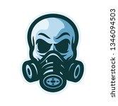 skull with gas mask mascot logo ... | Shutterstock .eps vector #1346094503