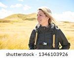 the successful woman mountain...   Shutterstock . vector #1346103926