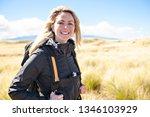 the successful woman mountain...   Shutterstock . vector #1346103929