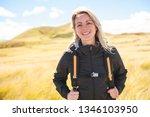 the successful woman mountain...   Shutterstock . vector #1346103950
