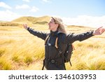 the successful woman mountain...   Shutterstock . vector #1346103953