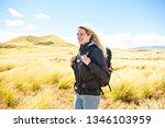the successful woman mountain...   Shutterstock . vector #1346103959