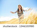 the successful woman mountain...   Shutterstock . vector #1346103980