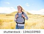 the successful woman mountain...   Shutterstock . vector #1346103983