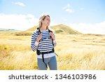 the successful woman mountain...   Shutterstock . vector #1346103986