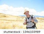 the successful man mountain...   Shutterstock . vector #1346103989