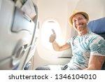 the passenger traveler in...   Shutterstock . vector #1346104010