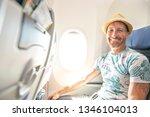 the passenger traveler in...   Shutterstock . vector #1346104013