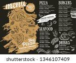 restaurant cafe menu  template... | Shutterstock .eps vector #1346107409