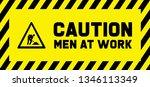 caution under construction men... | Shutterstock .eps vector #1346113349
