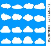 clouds icon   vector... | Shutterstock .eps vector #1346121746