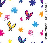 abstract seamless floral... | Shutterstock .eps vector #1346166500